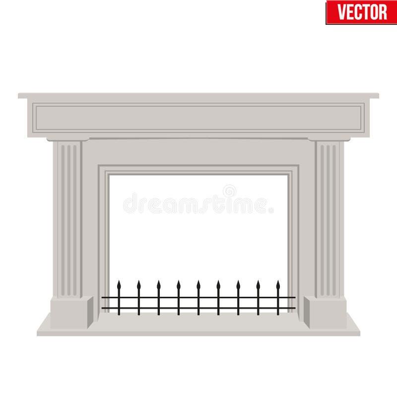 Diseño plano del estilo de la chimenea tradicional libre illustration