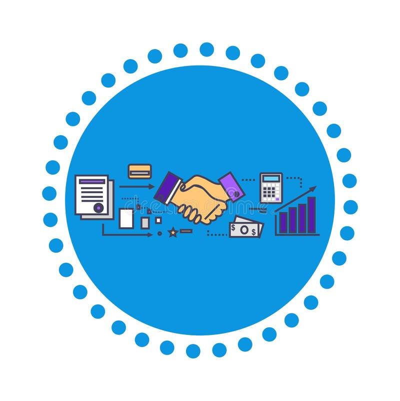Diseño plano del icono de los socios comerciales stock de ilustración
