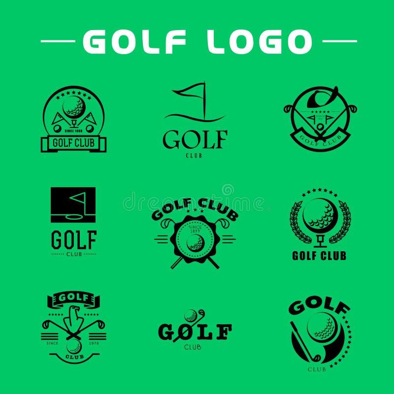 Diseño plano del logotipo del golf del vector stock de ilustración