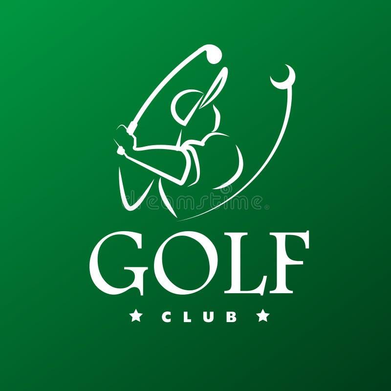 Diseño plano del logotipo del golf del vector ilustración del vector
