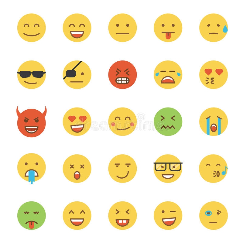 Diseño plano Emoji- redondo libre illustration