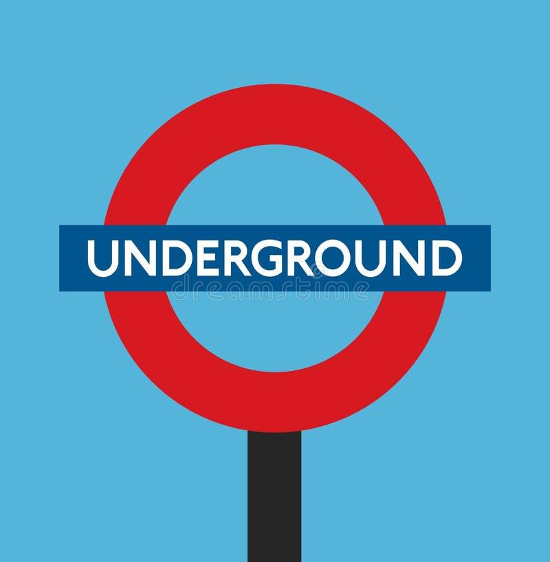 Diseño plano subterráneo de Londres Inglaterra stock de ilustración