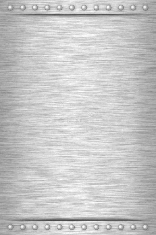 Diseño plateado de metal imagen de archivo