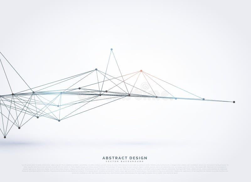diseño poligonal abstracto del fondo de la malla del wireframe stock de ilustración