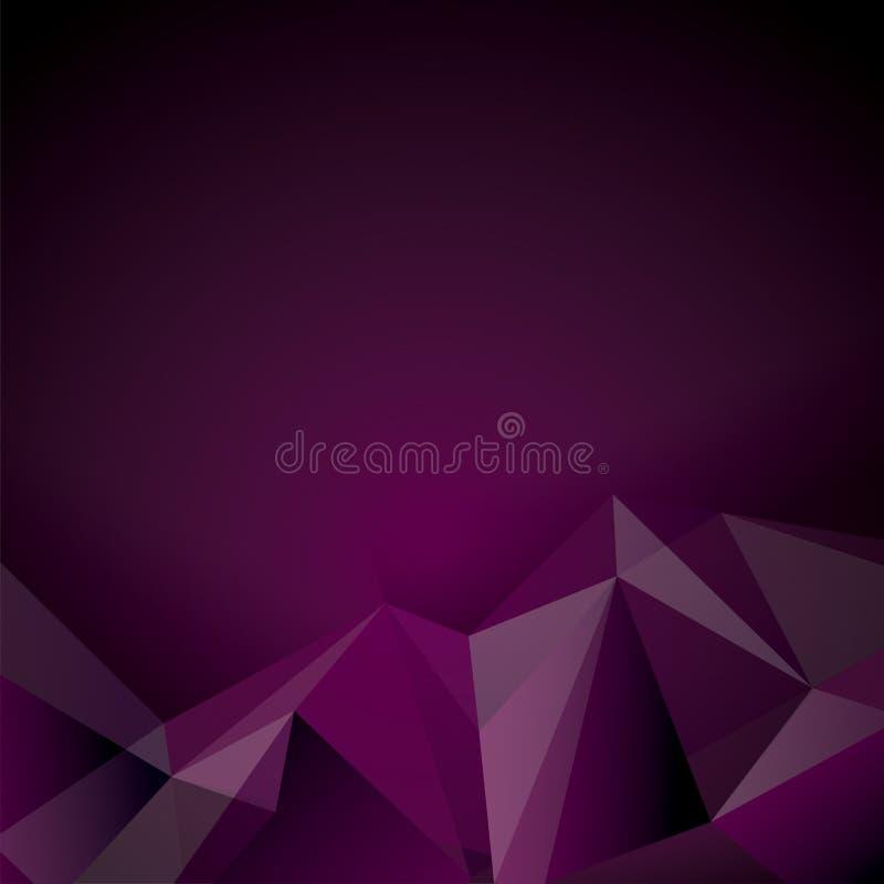 Diseño poligonal púrpura. libre illustration