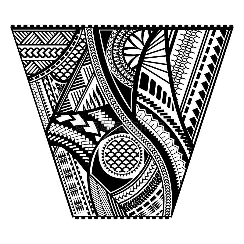 Diseño polinesio del vector de la manga del estilo del tatuaje ilustración del vector