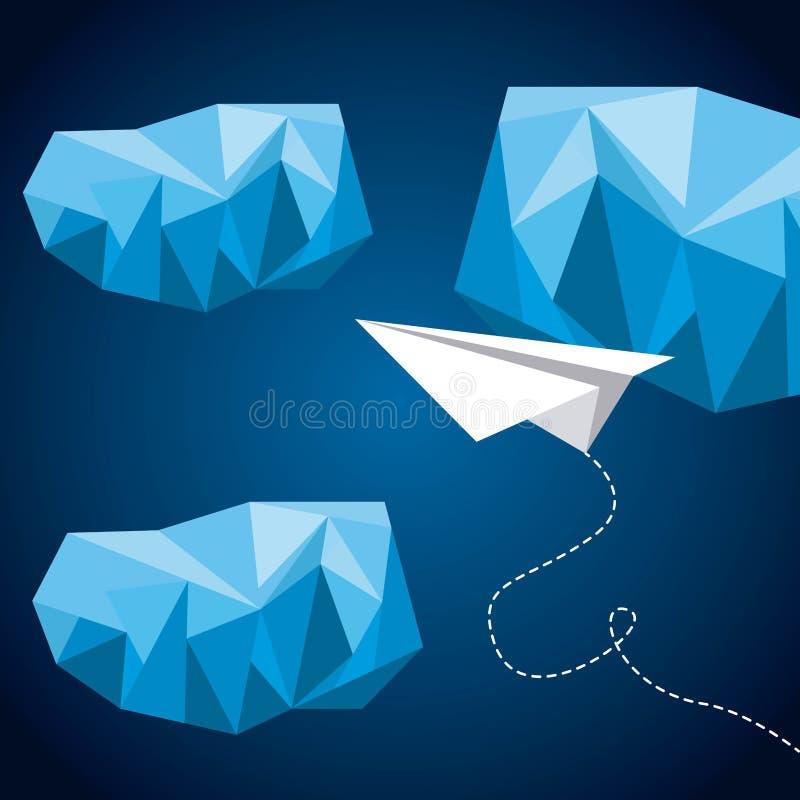 Diseño polivinílico bajo libre illustration