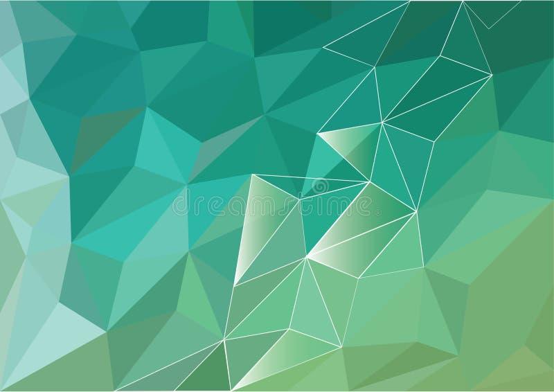 Diseño polivinílico bajo abstracto del polígono del fondo Triángulos y líneas ilustración del vector