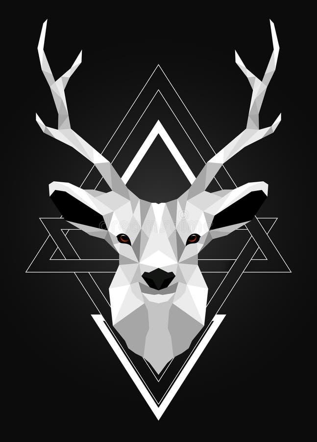 Diseño polivinílico bajo poligonal de los ciervos imagen de archivo libre de regalías