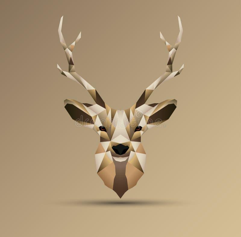 Diseño polivinílico bajo poligonal de los ciervos imágenes de archivo libres de regalías