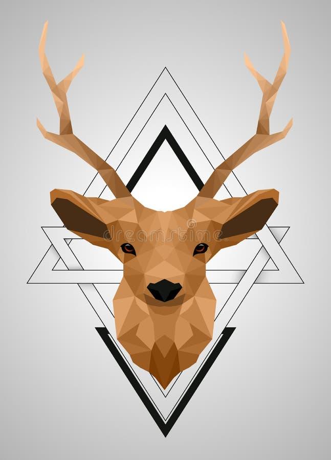 Diseño polivinílico bajo poligonal de los ciervos fotografía de archivo libre de regalías