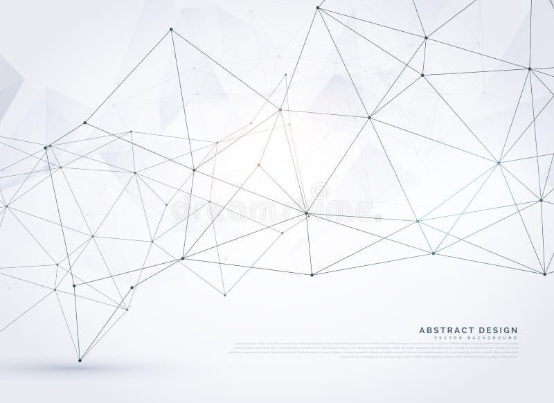 diseño polivinílico del fondo de la malla del wireframe digital abstracto ilustración del vector