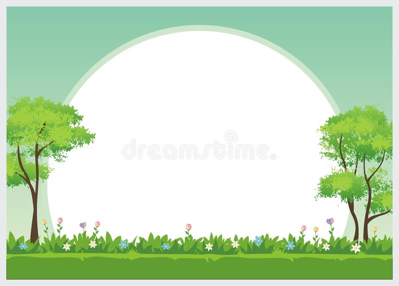 Diseño precioso de la plantilla del diploma de los niños ilustración del vector