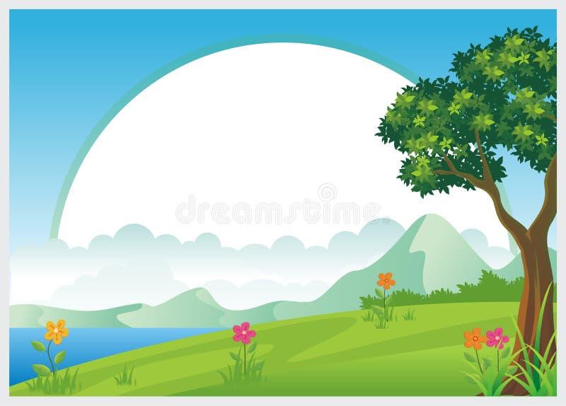 Diseño precioso de la plantilla del diploma de los niños stock de ilustración