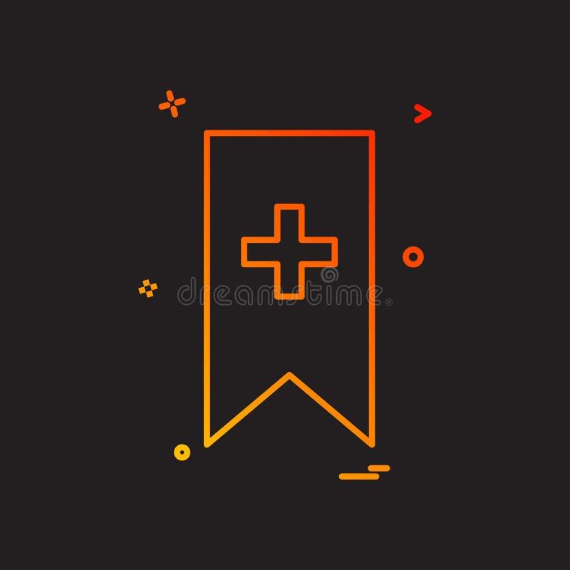 Diseño preferido del vector del icono de la cinta de los favoritos de las señales de la señal stock de ilustración