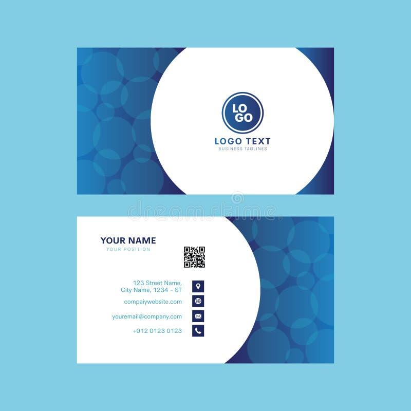 Diseño profesional abstracto de la tarjeta de visita de la burbuja del agua stock de ilustración