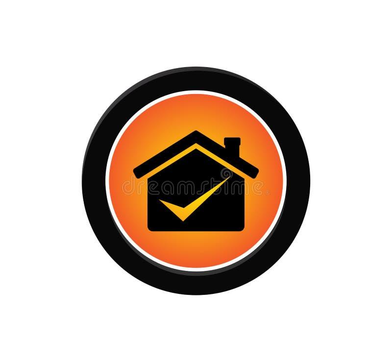 diseño profesional del logotipo del vector del icono de la casa del negocio libre illustration