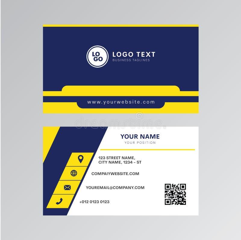 Diseño profesional del vector de la tarjeta de visita, diseño moderno de la plantilla de la tarjeta de la invitación libre illustration