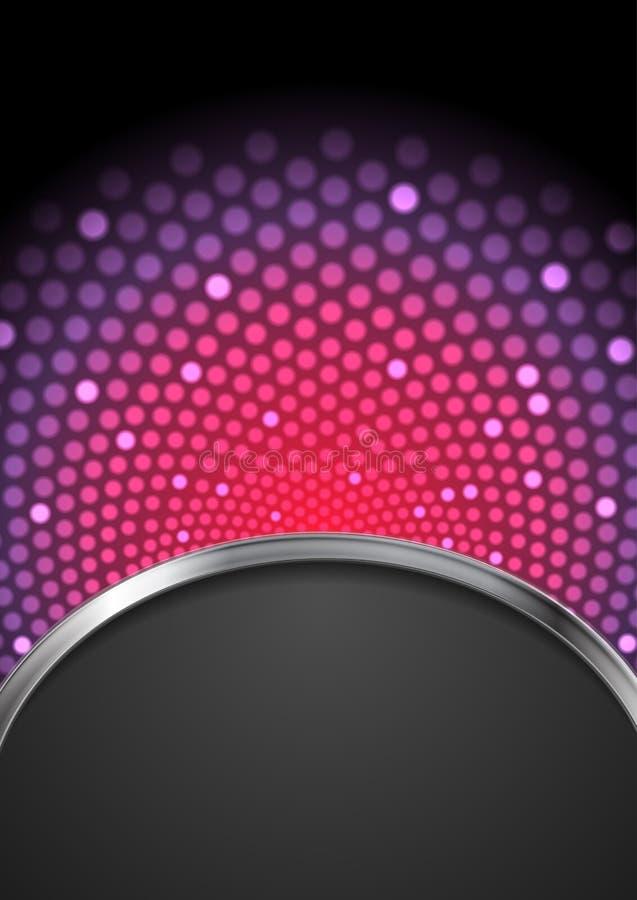 Diseño que brilla intensamente del parpadeo brillante púrpura abstracto libre illustration