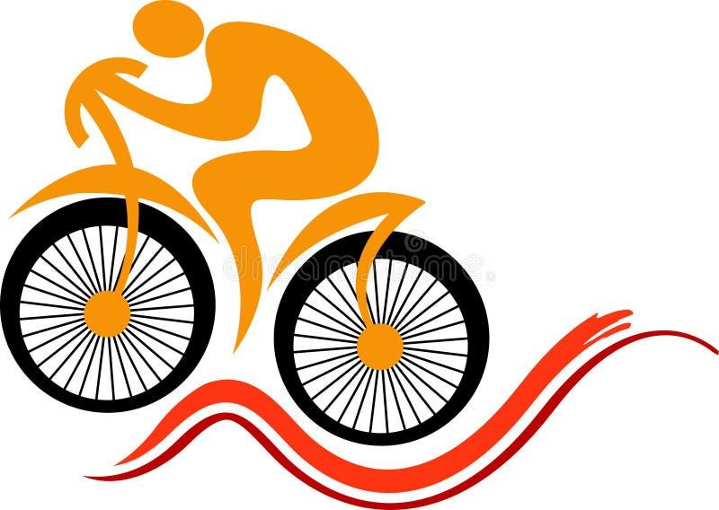 Diseño rápido del logotipo del ciclo ilustración del vector