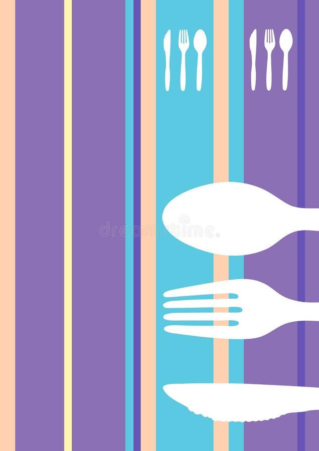 Diseño rayado retro del menú ilustración del vector