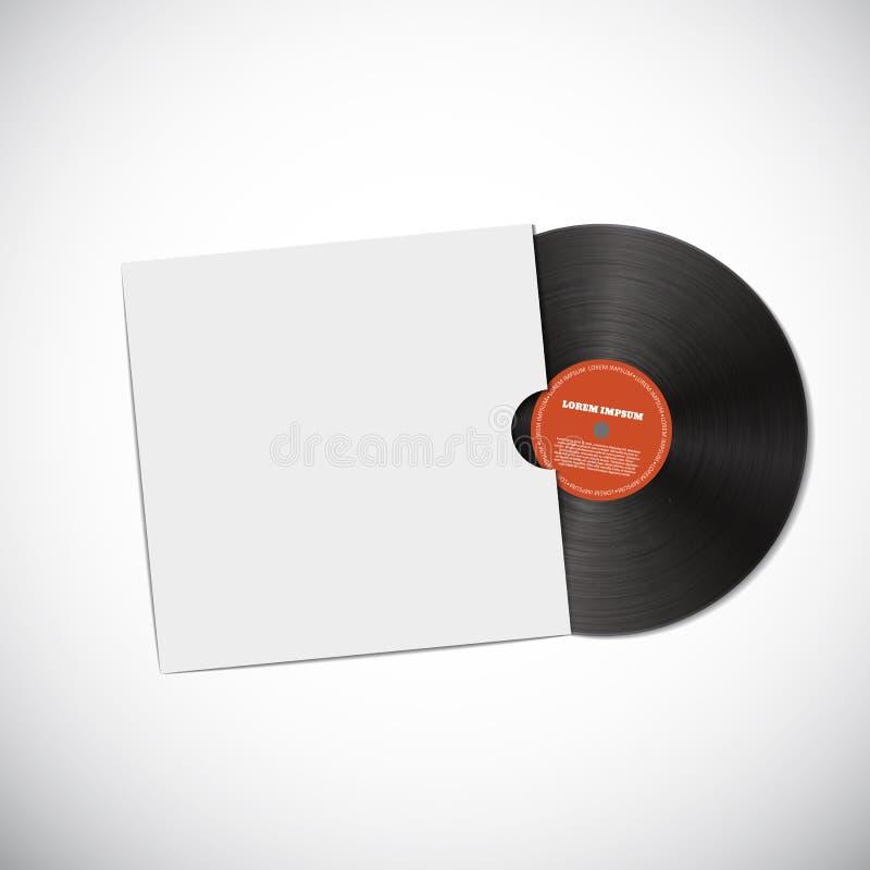 Diseño realista EPS 10 del disco del vinilo stock de ilustración