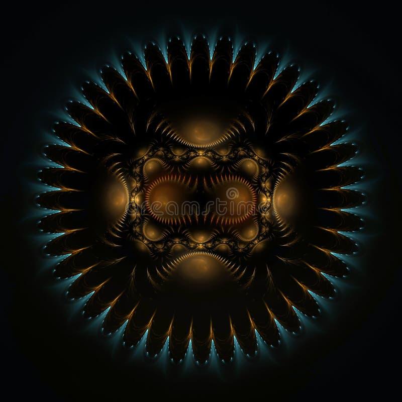 Diseño redondo del fractal del blindaje stock de ilustración