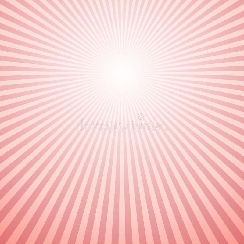 Diseño retro abstracto del fondo de los rayos del sol de la pendiente - vector el diseño stock de ilustración