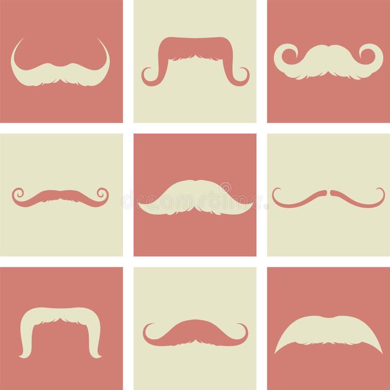 Diseño retro de los bigotes stock de ilustración