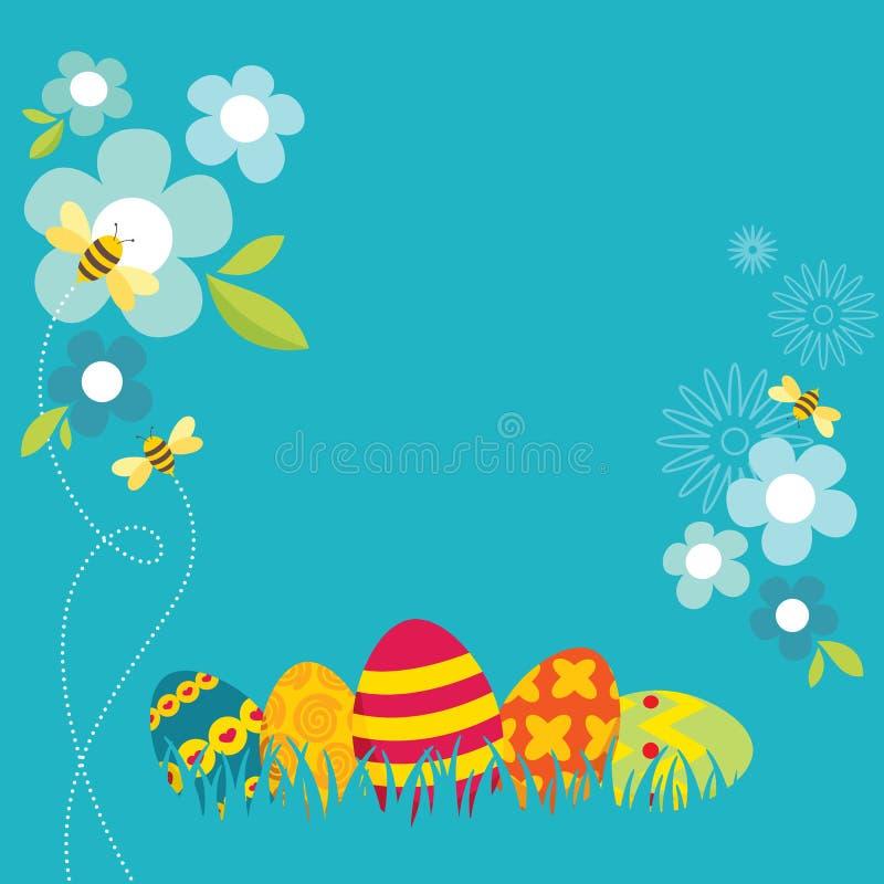 Diseño retro de Pascua ilustración del vector