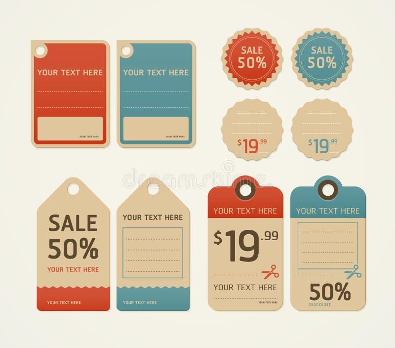 Diseño retro del color de los precios. libre illustration