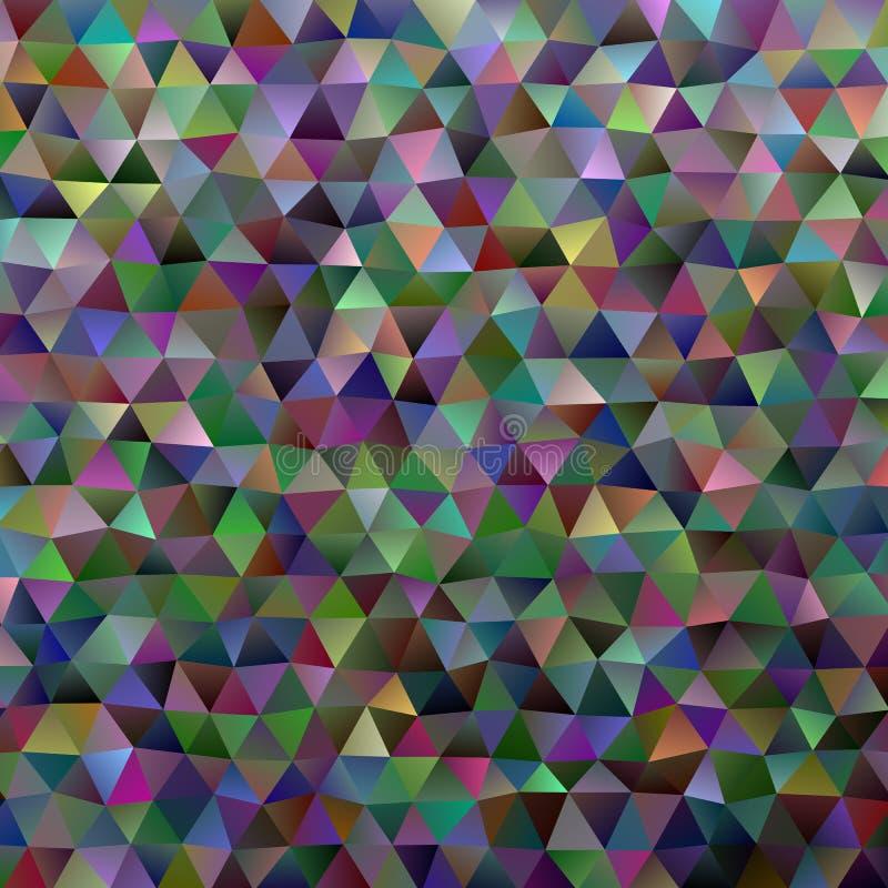 Diseño retro del fondo del polígono del triángulo de la pendiente ilustración del vector