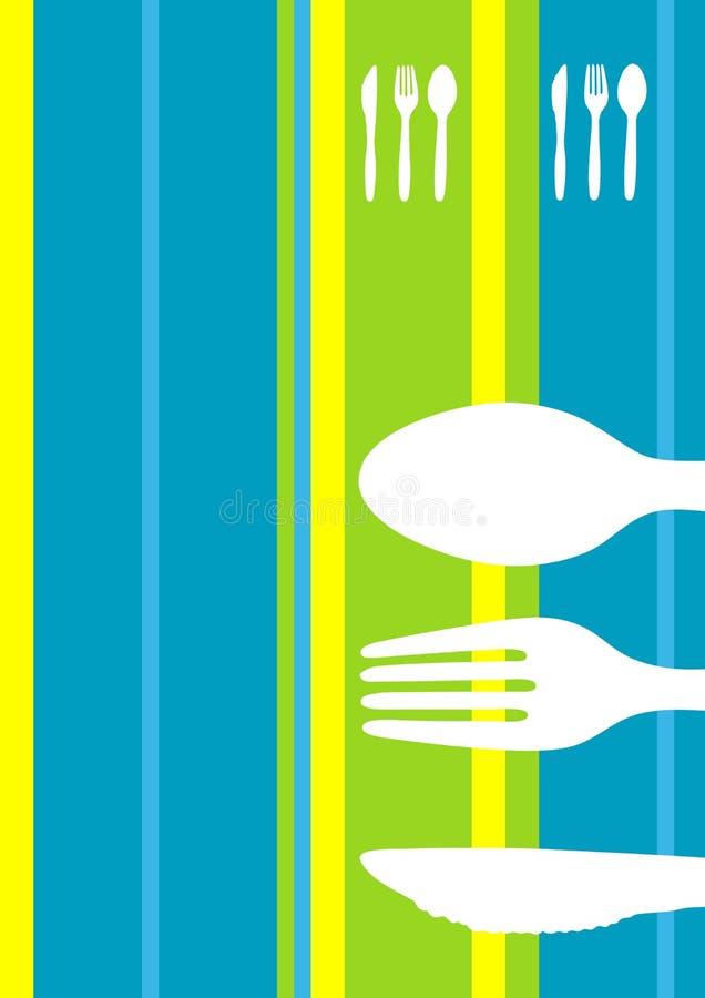 Diseño retro del menú de las rayas ilustración del vector