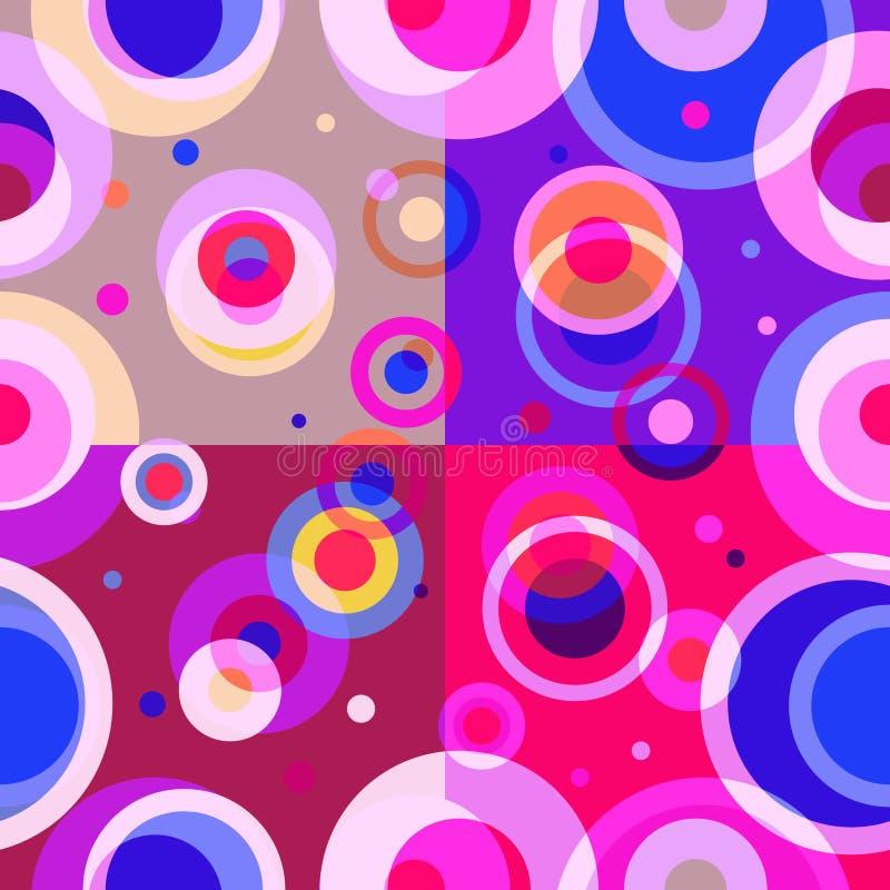 Diseño retro del modelo inconsútil geométrico stock de ilustración
