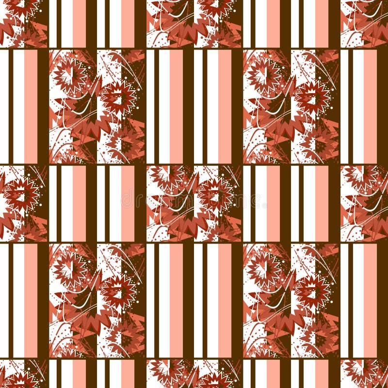 Diseño retro del remiendo de la materia textil a cuadros inconsútil abstracta de la tela escocesa stock de ilustración