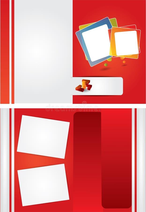 Diseño rojo bilateral del folleto ilustración del vector