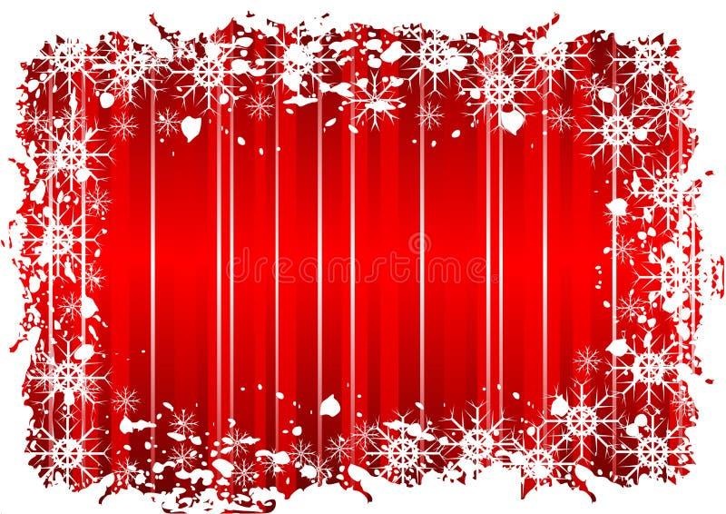 Diseño rojo de la Navidad de Grunge libre illustration