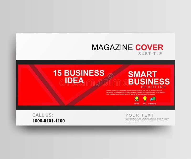 Diseño rojo de la plantilla de la cubierta del estilo de la revista Vector del espacio en blanco del folleto libre illustration