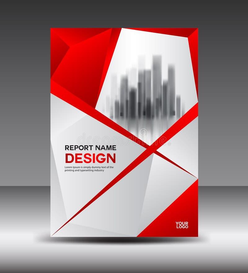 Diseño rojo de la plantilla de la disposición de diseño de la cubierta, aviador, cartel stock de ilustración