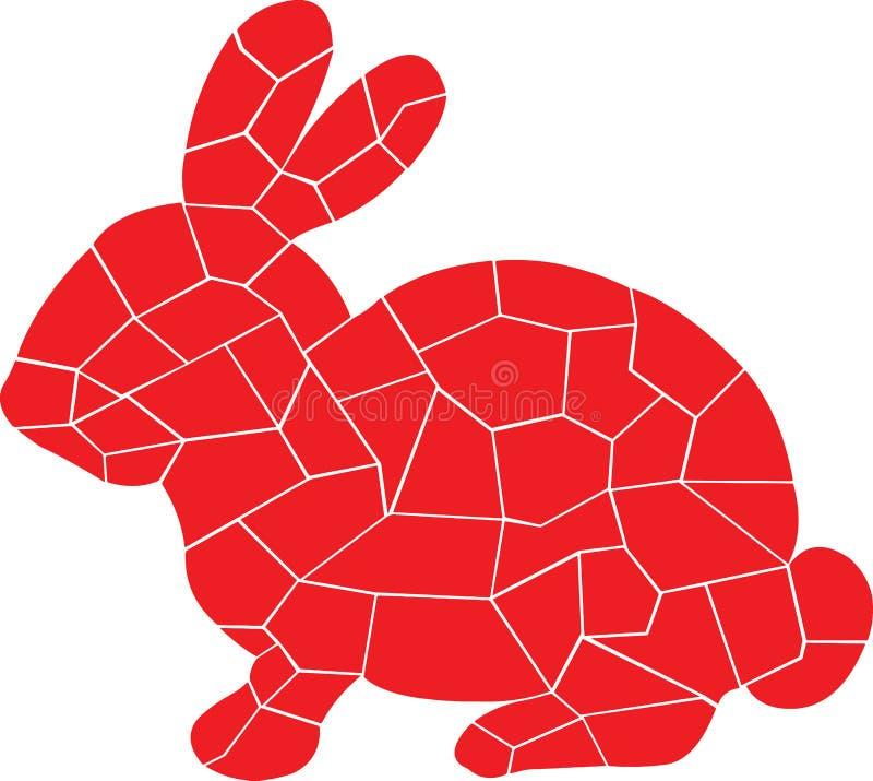 Diseño rojo del conejo ilustración del vector