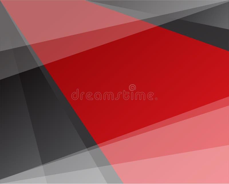 Diseño rojo y negro del vector del fondo stock de ilustración