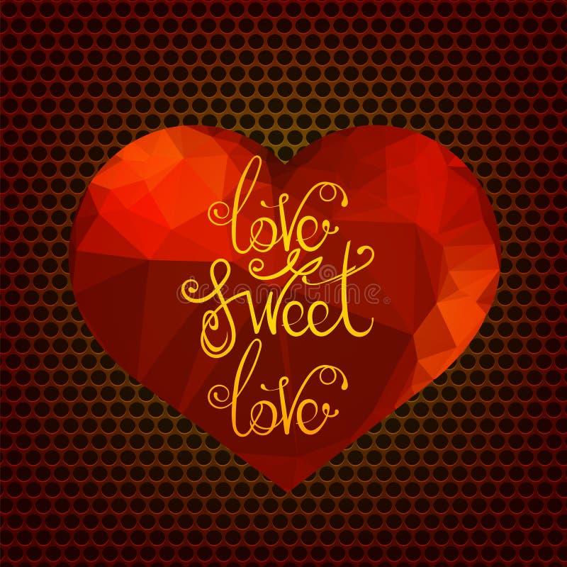 Diseño romántico de la cita del amor stock de ilustración