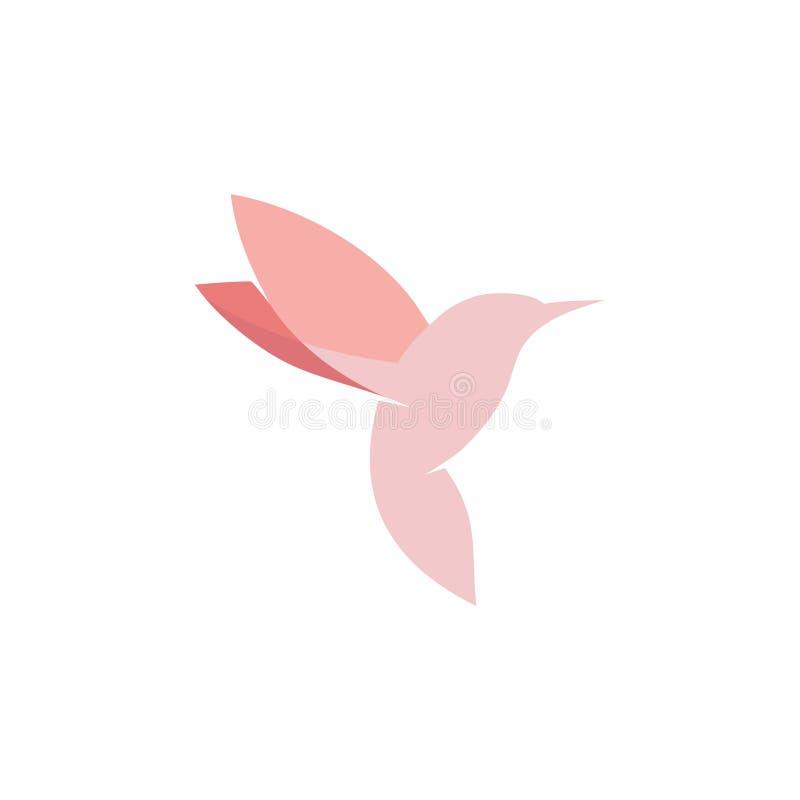 Diseño rosado del logotipo del pájaro libre illustration