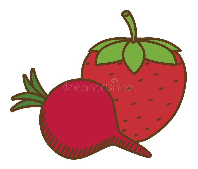 Diseño sano de las frutas stock de ilustración