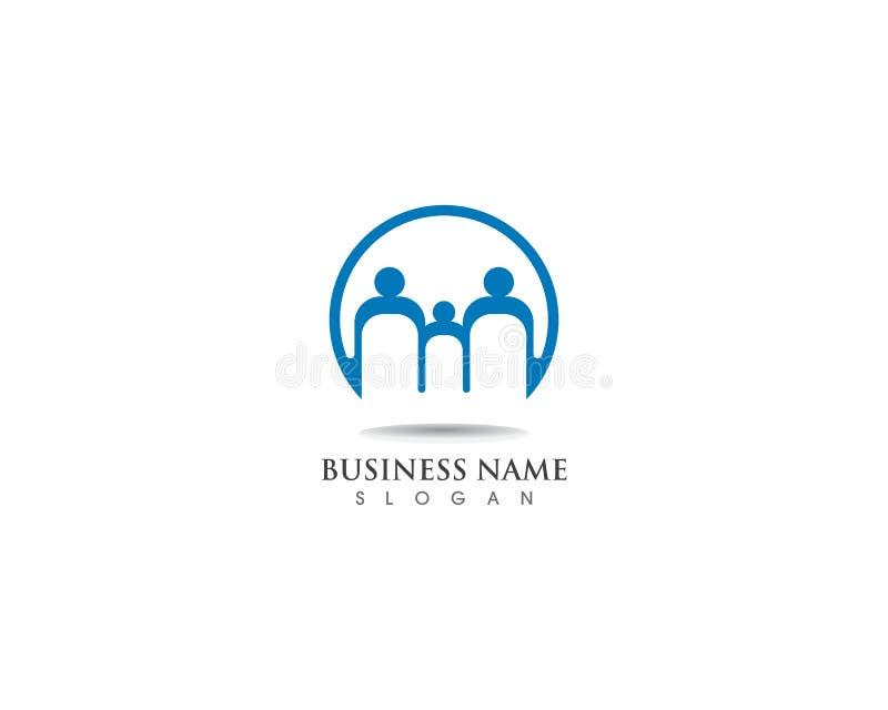 Diseño sano del icono del vector de la plantilla del logotipo de la familia libre illustration