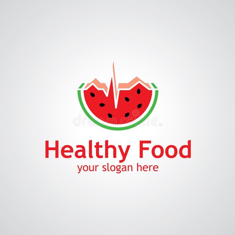 Diseño sano del logotipo del vector de la comida ilustración del vector