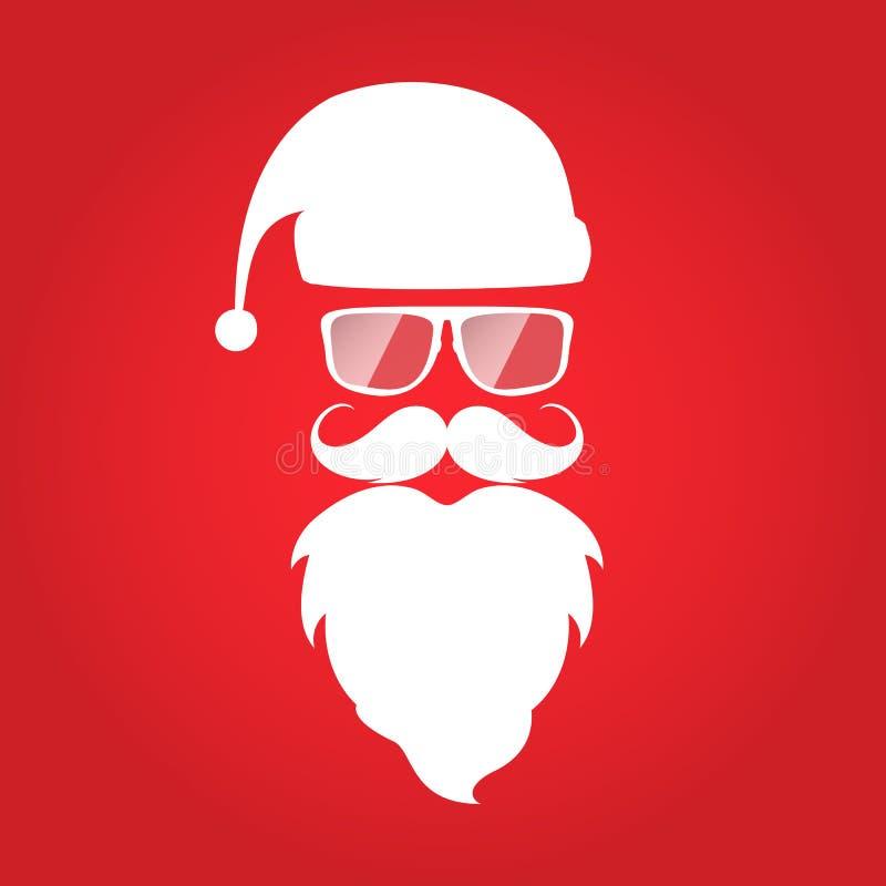 Diseño Santa Claus de la tarjeta de Navidad del estilo del inconformista fotografía de archivo libre de regalías