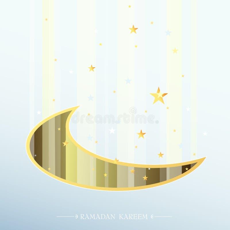 Diseño santo islámico de la tarjeta de felicitación del Ramadán del mes ilustración del vector
