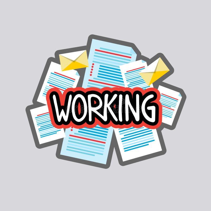 Diseño social de trabajo de las insignias del mensaje de red de la etiqueta engomada medios ilustración del vector