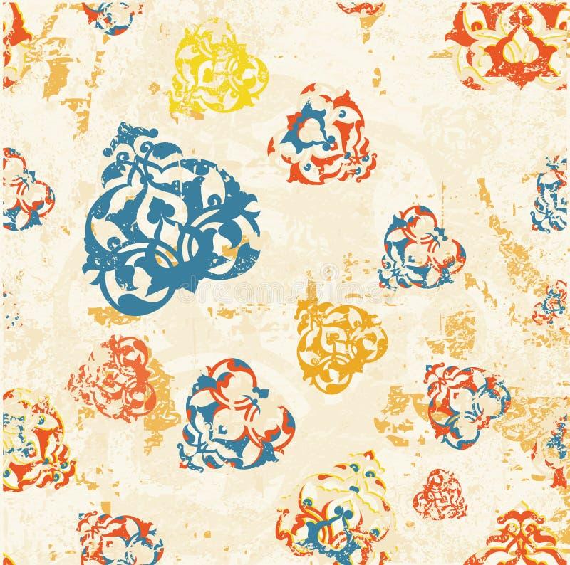 Dise o sucio de la trama del papel pintado del otomano - Papel pintado antiguo ...